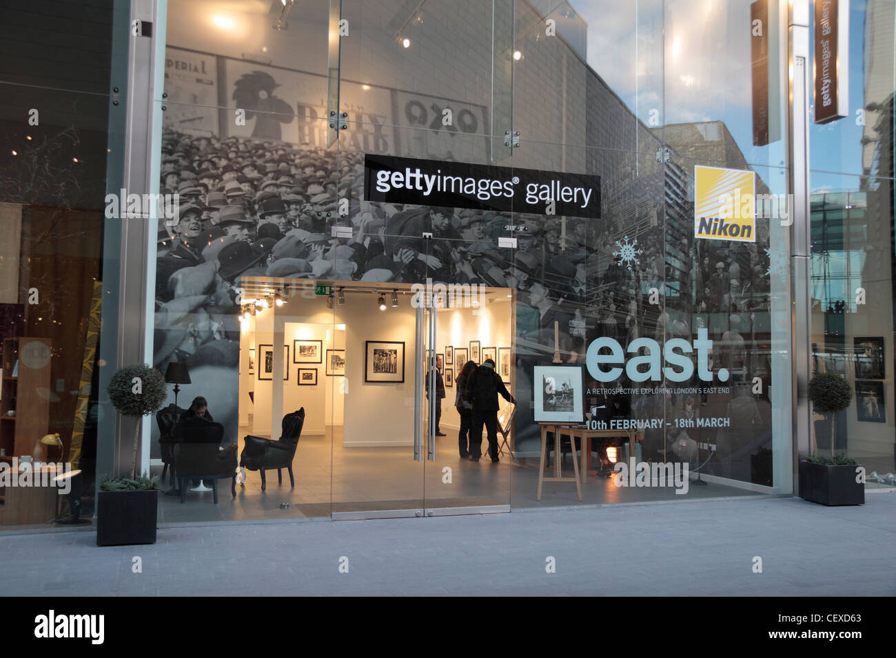 The Getty Images gallery in the Westfield Stratford City shopping centre in Stratford, UK. Stock Photo