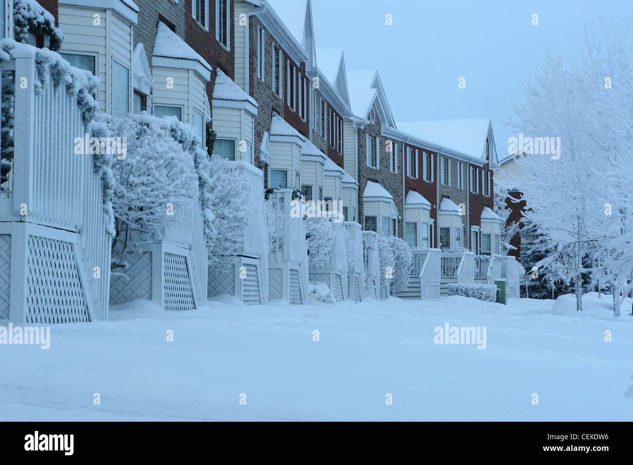 Winter scenes from Calgary, Alberta, Canada  Condominium