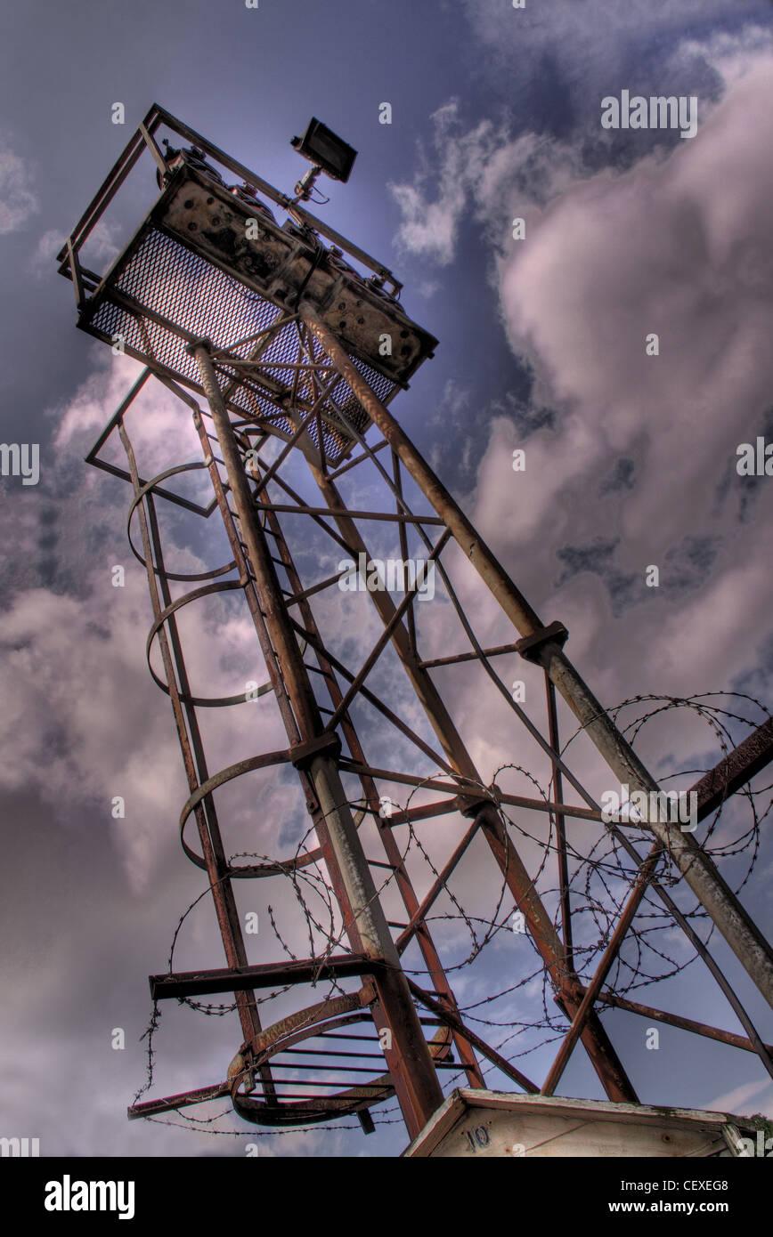 Watchtower, Manchester Ship Canal at Latchford, Warrington Cheshire England UK  WA4 1NN  - Stock Image