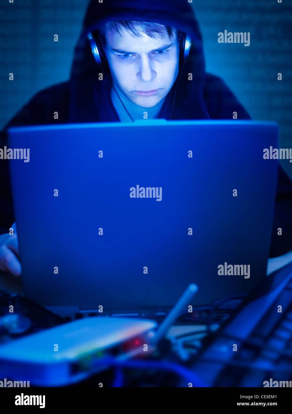 The hacker - Stock Image