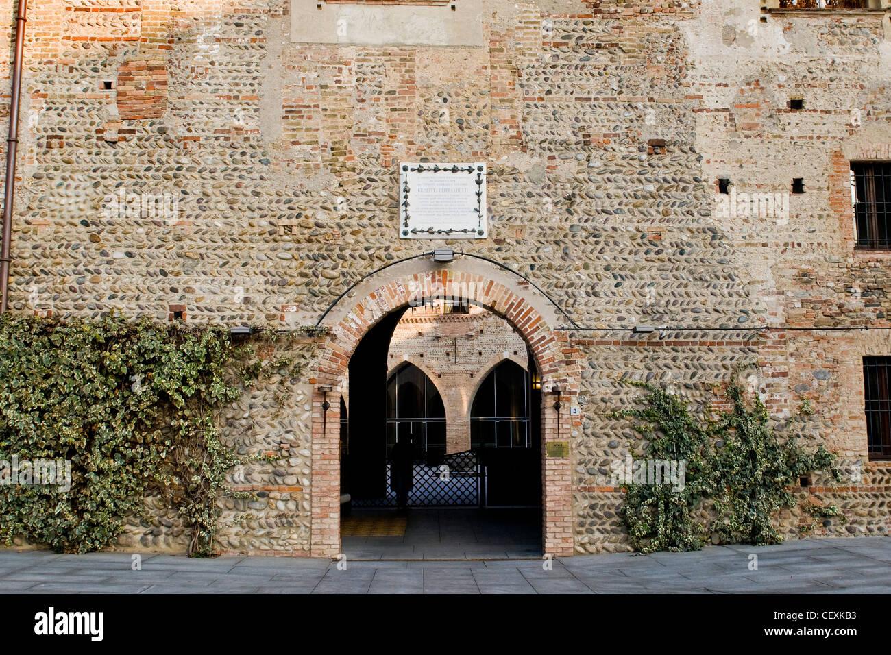 Borromeo castle, Cassano d'Adda, Lombardy, Italy Stock Photo