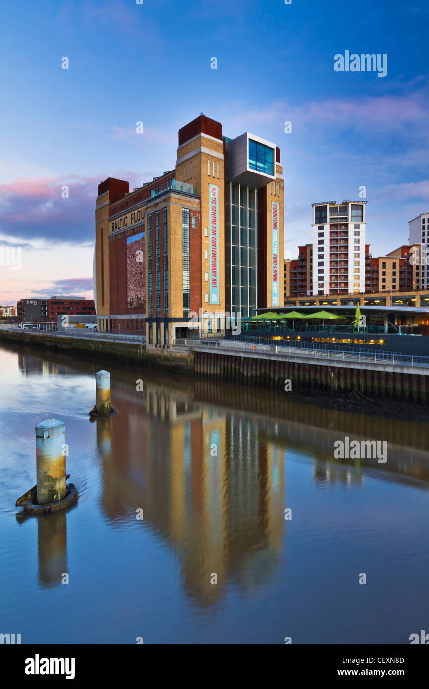 The Baltic Gallery on the Gateshead side of the River Tyne. Tyne and Wear, England - Stock Image