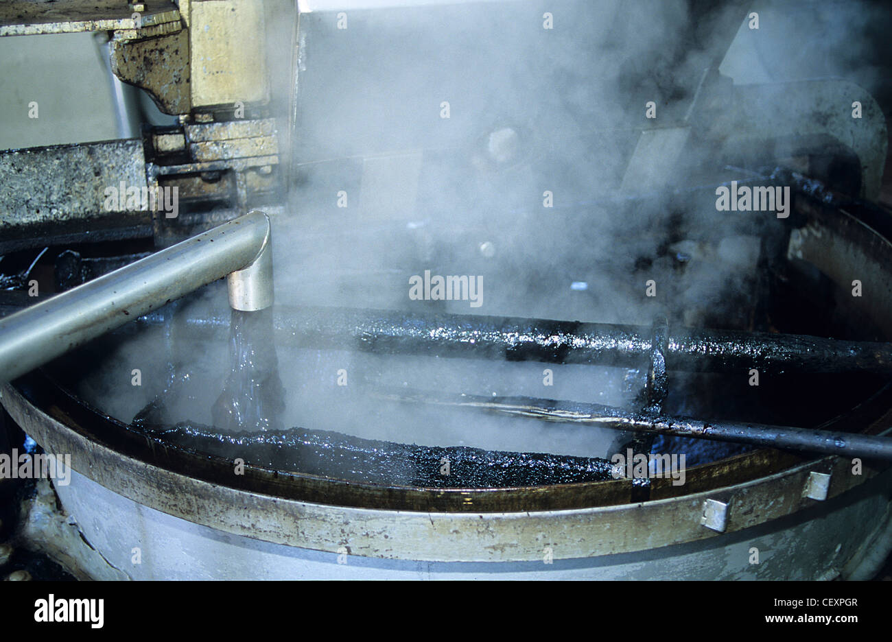 ITALY Calabria , Rossano , Amarelli factory produce liquorice confectionery from liquorice roots since 1871 Stock Photo