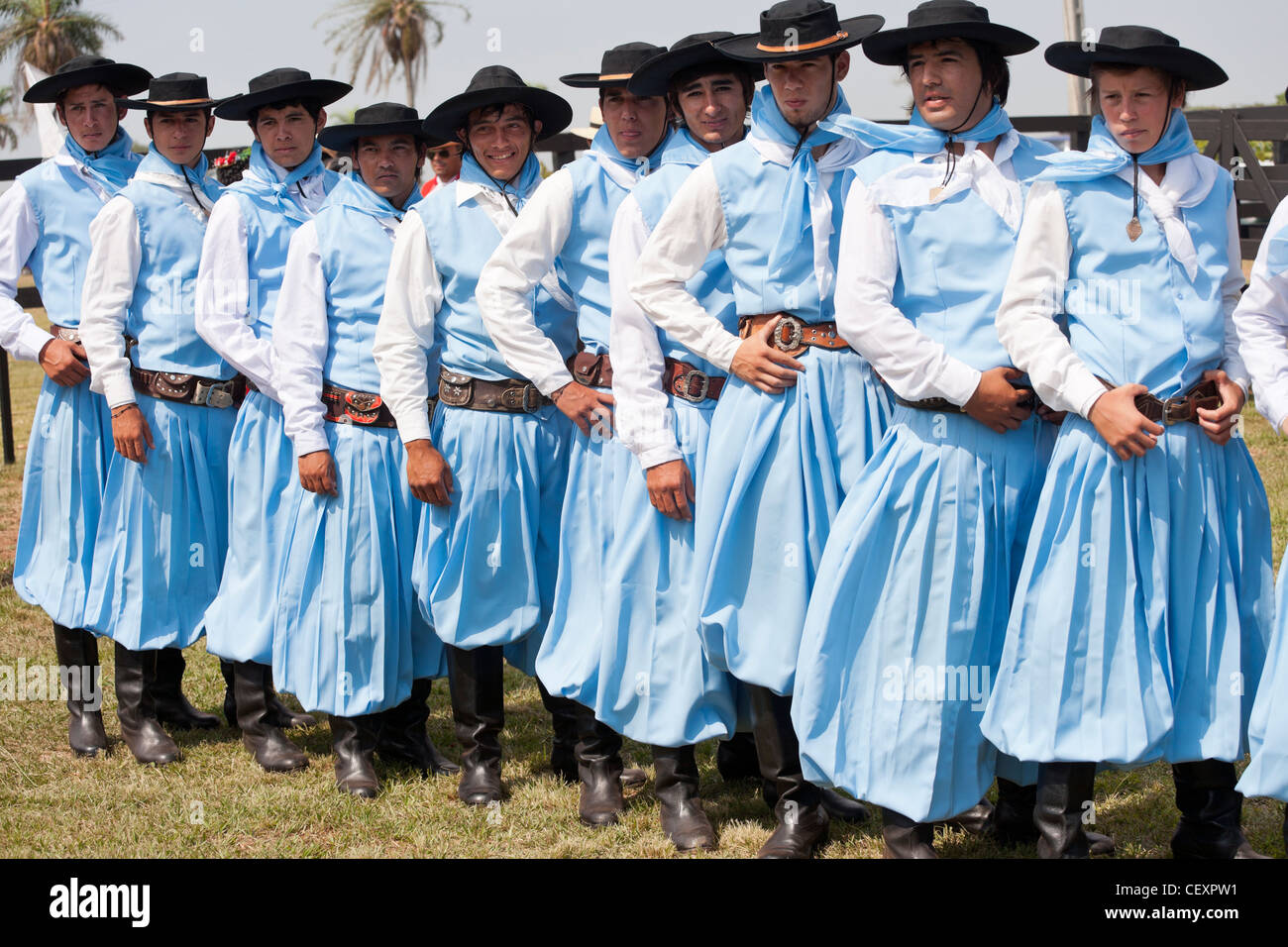 Festival Doma Folklore Paraguay Misiones Tacuaty - Stock Image