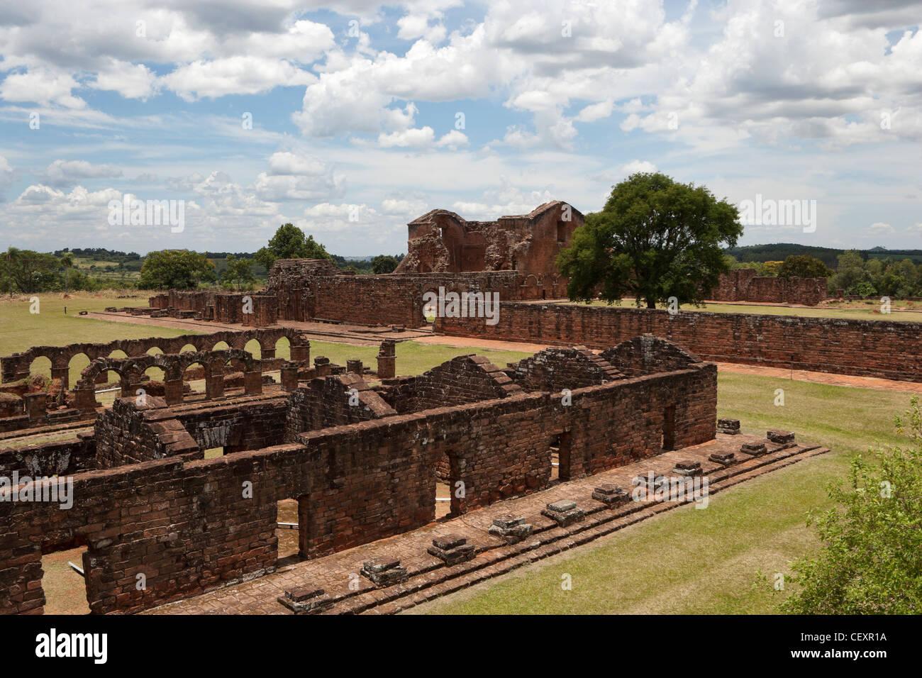 Trinidad Jesuit Ruins Mission Paraguay UNESCO - Stock Image