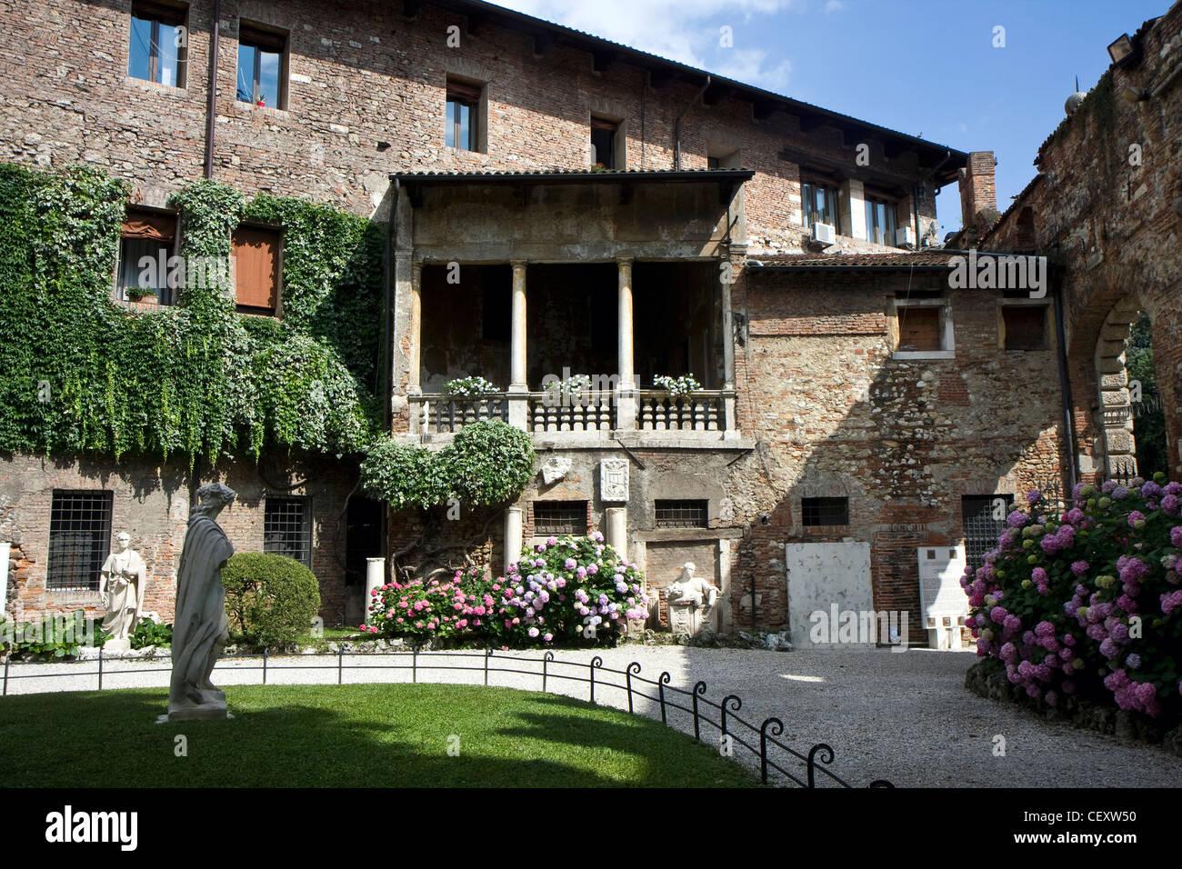 Teatro Olimpico garden in Vicenza, Italy - Stock Image