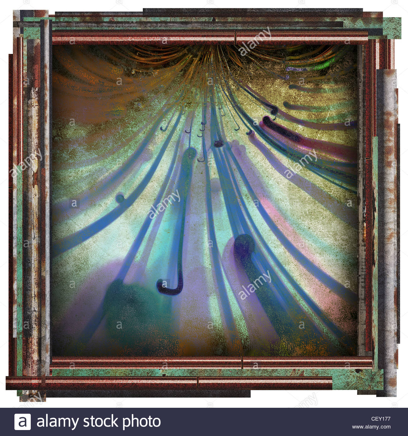 abstract art picture - Stock Image