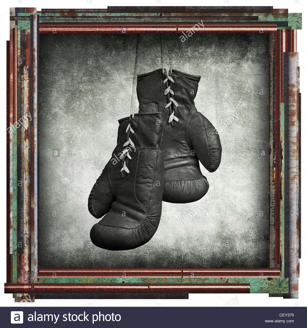 boxing picture - Stock Image