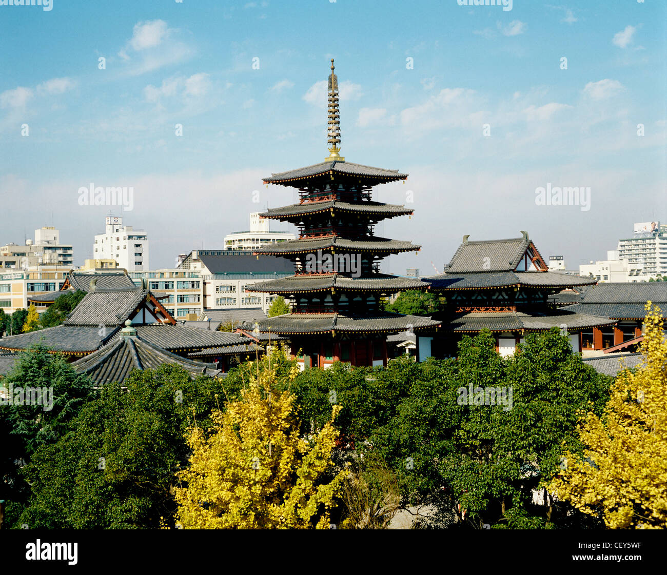 Shitennoji Temple, Osaka, Japan - Stock Image