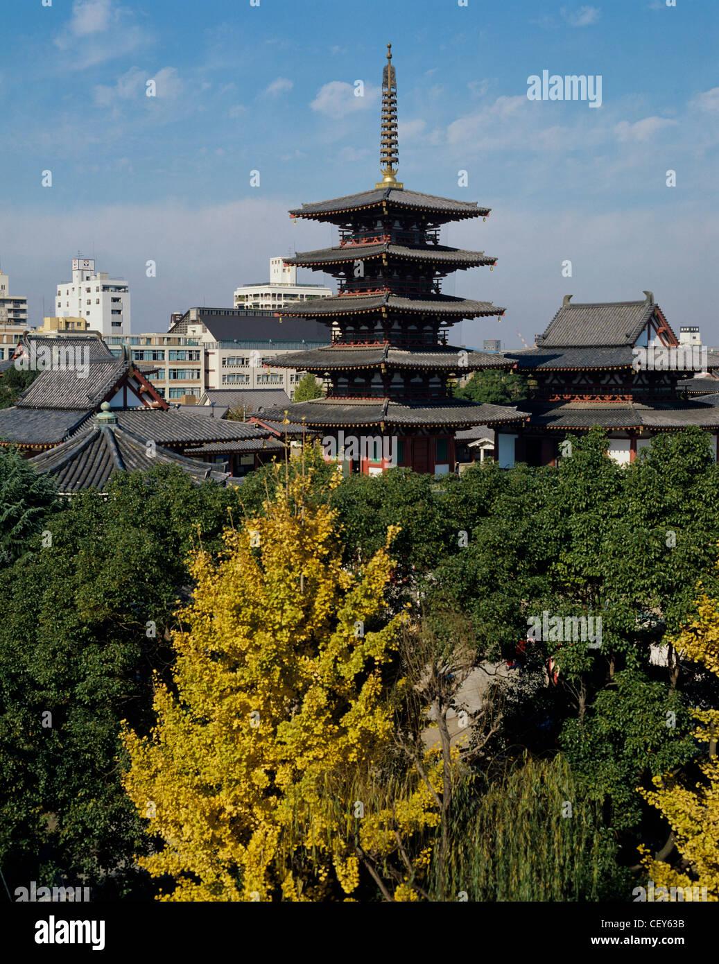 Shitennoji Temple, Japan - Stock Image