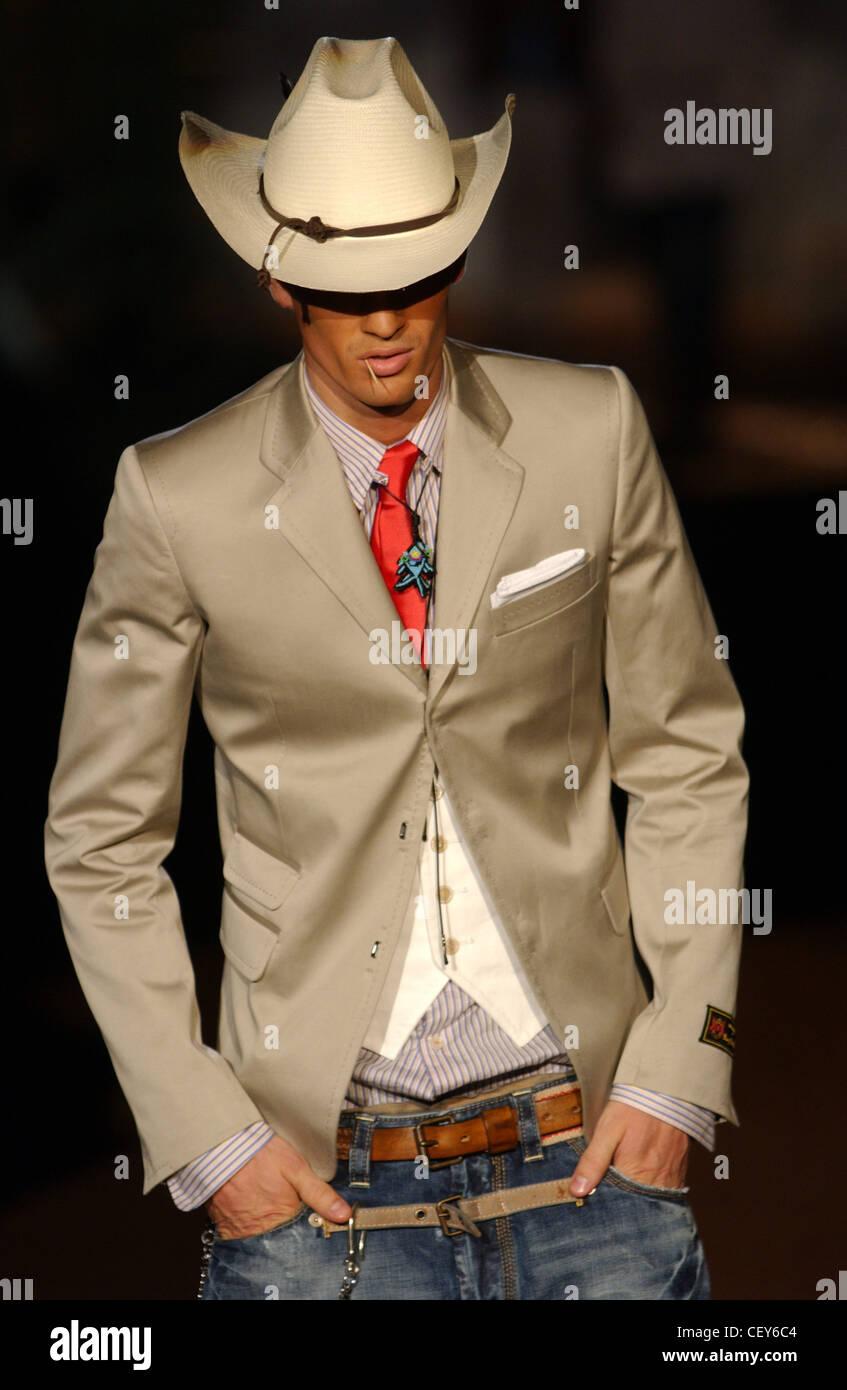fe92b12cf1d DSquared Milan Menswear S S Cowboy fashion Stock Photo: 43623668 - Alamy