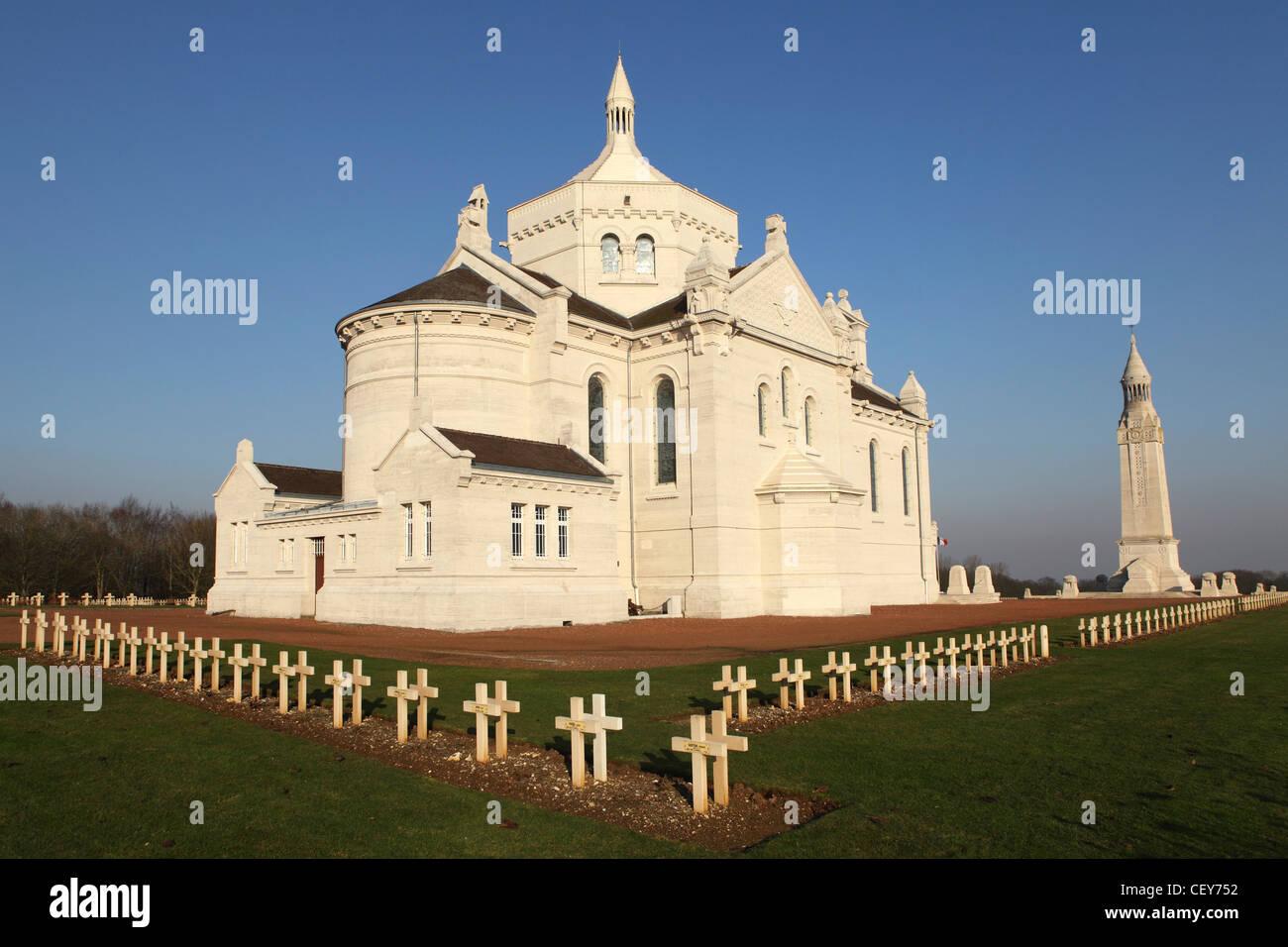 The French National War Cemetery at Notre-Dame de Lorette, Ablain-Saint-Nazaire, France. Stock Photo