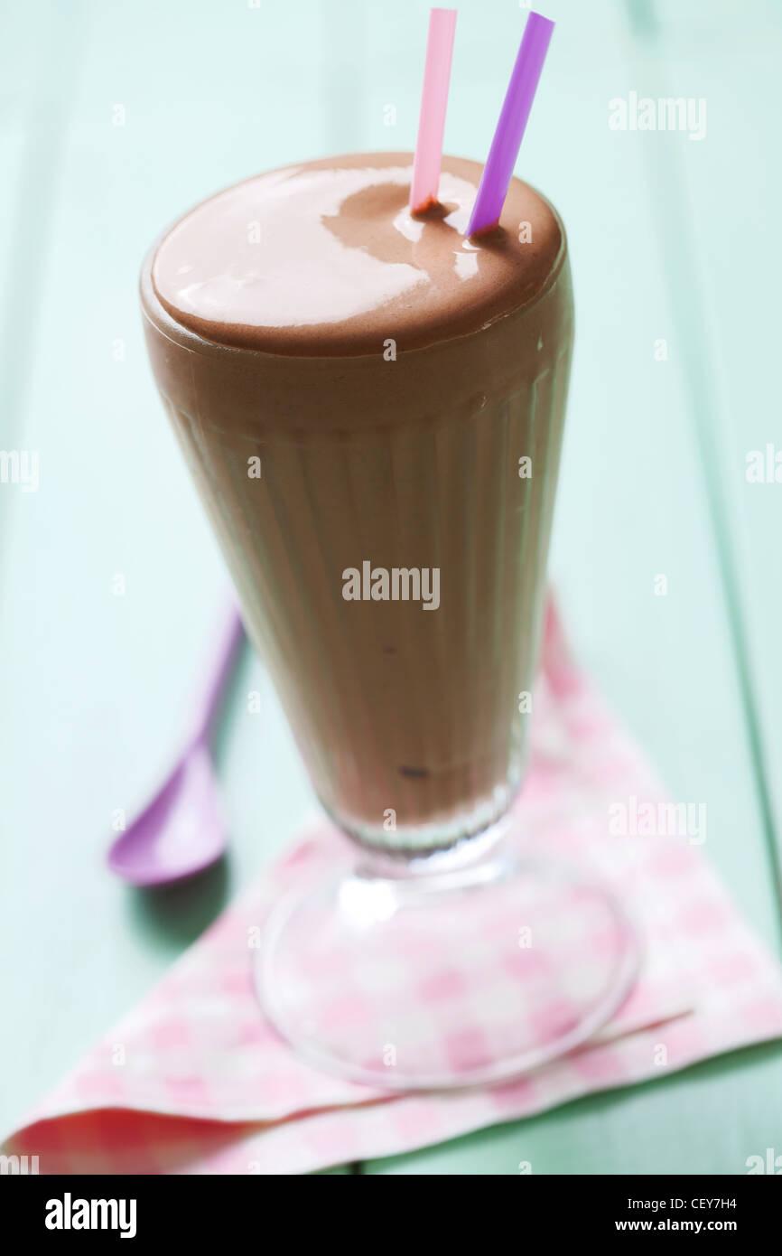 chocolate milk shake - Stock Image