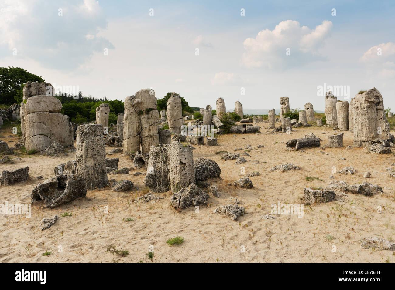 Stone phenomenon near varna - Stock Image