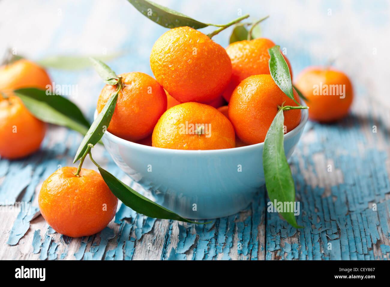 fresh mandarins, oranges - Stock Image