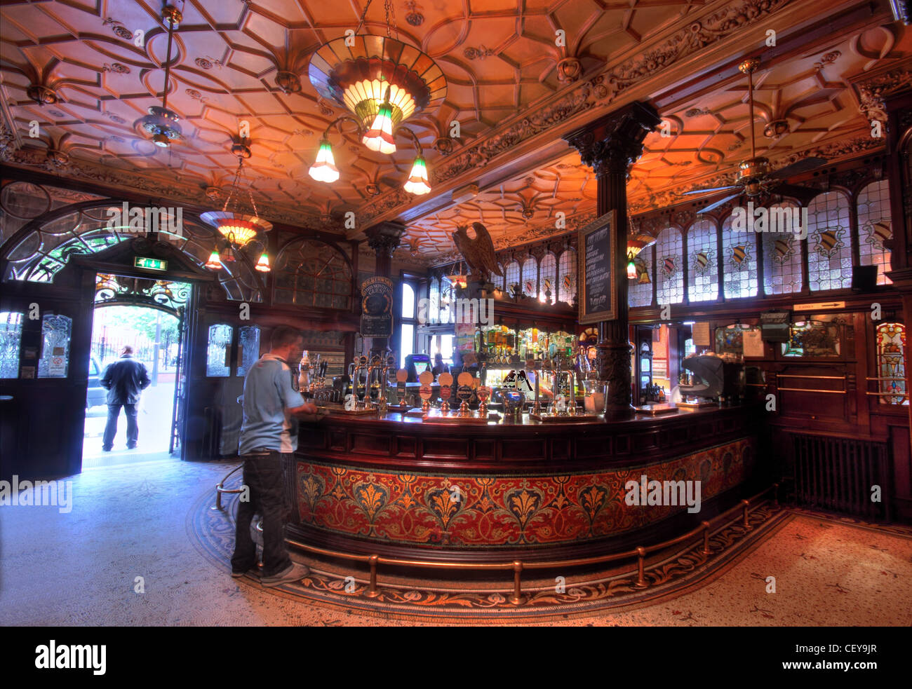 The Famous Phillharmonic Pub, in Hope Street Liverpool - Stock Image
