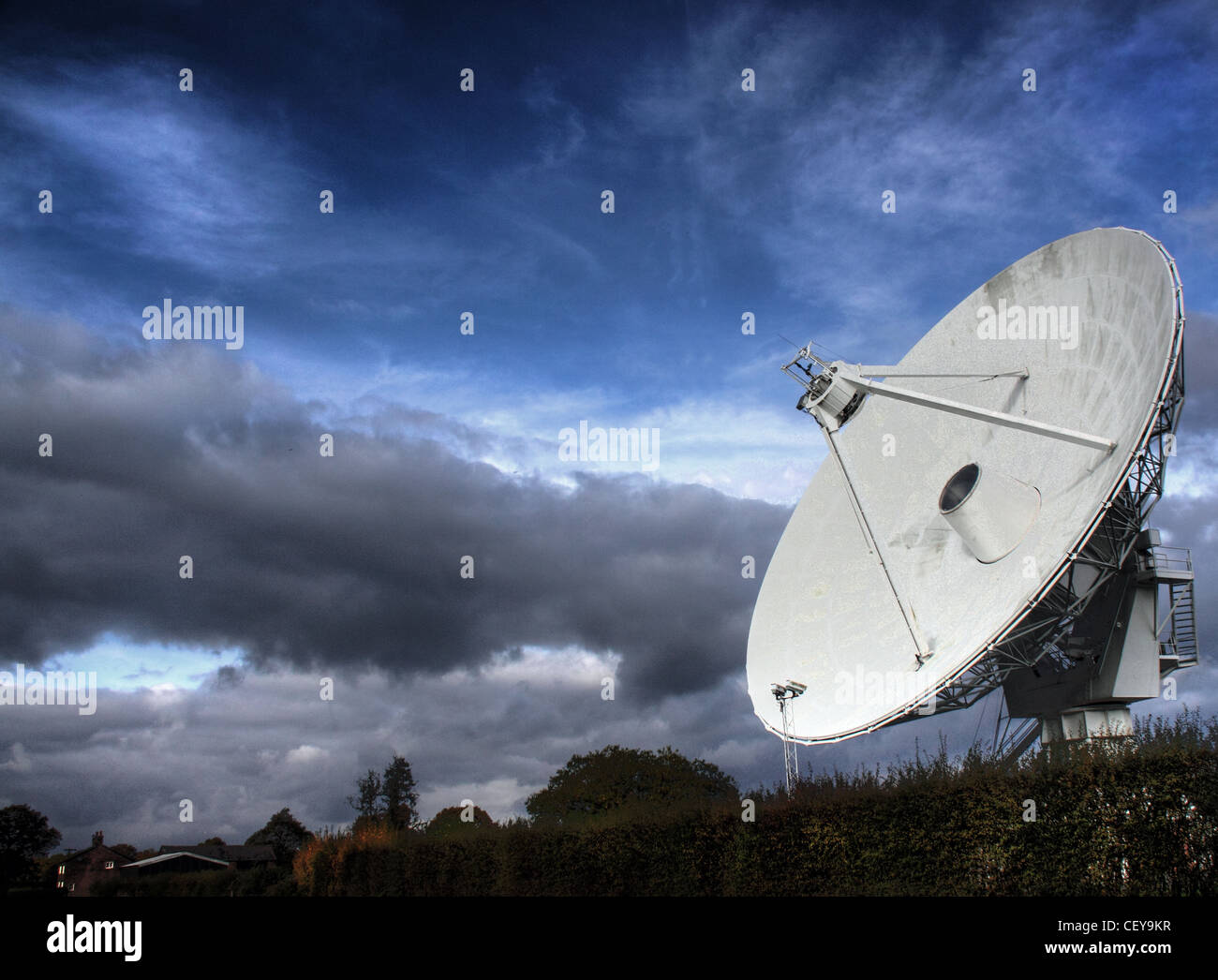 The Plumley Radio Telescope, near Northwich, Cheshire, North West England, UK - Stock Image