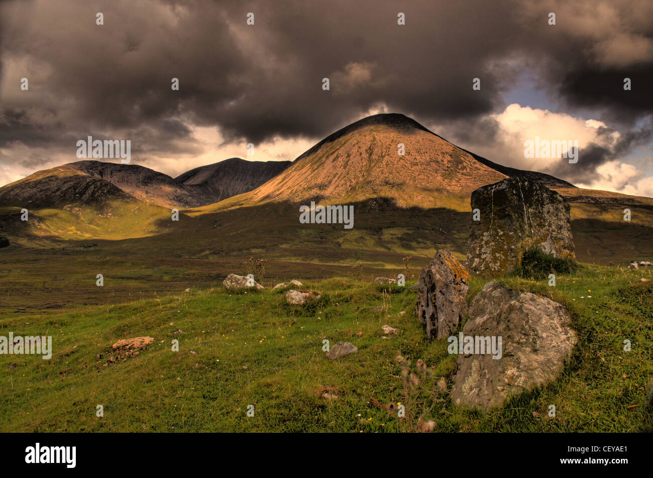 Road to Elgol, Isle of Skye, Scotland Landscape - Stock Image