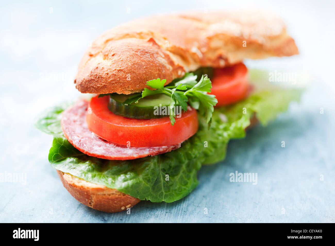 healthy sandwich - Stock Image