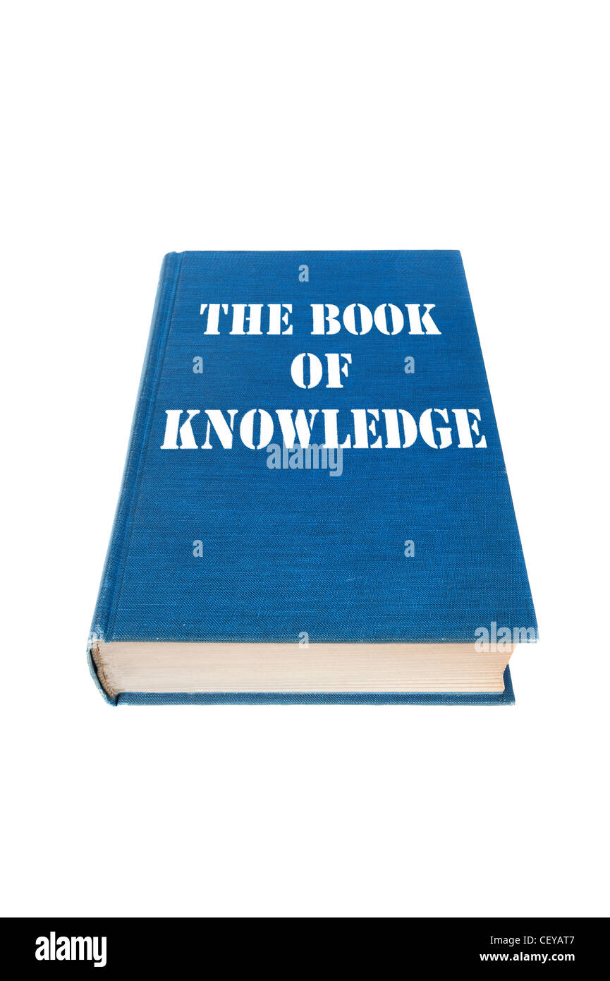 The Book of Knowledge isolated on a white background. - Stock Image