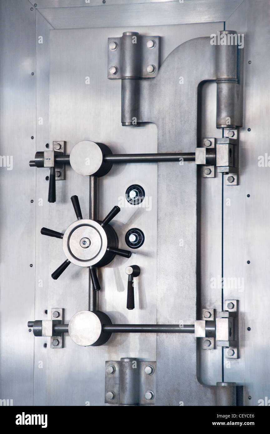 safe secure security vault bank - Stock Image