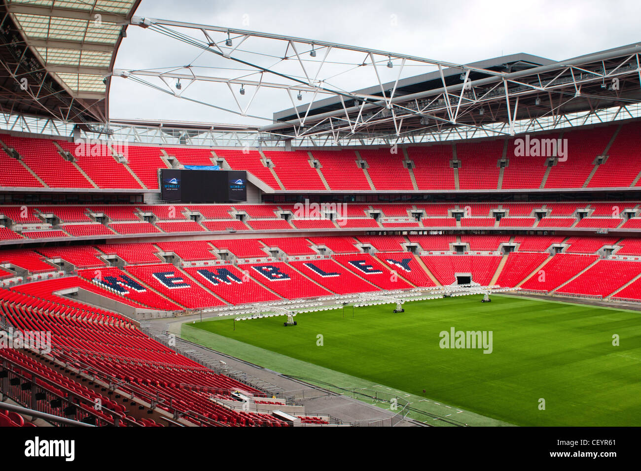 Internal shot of the new Wembley Stadium. 2012 London Olympic Venue and home of the England national football team. - Stock Image