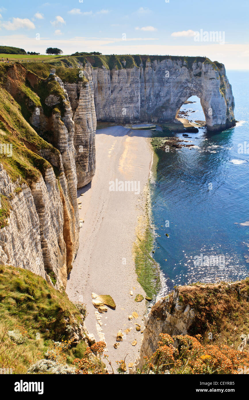 Cliffs Of Etretat Normandy France Stock Photo Alamy
