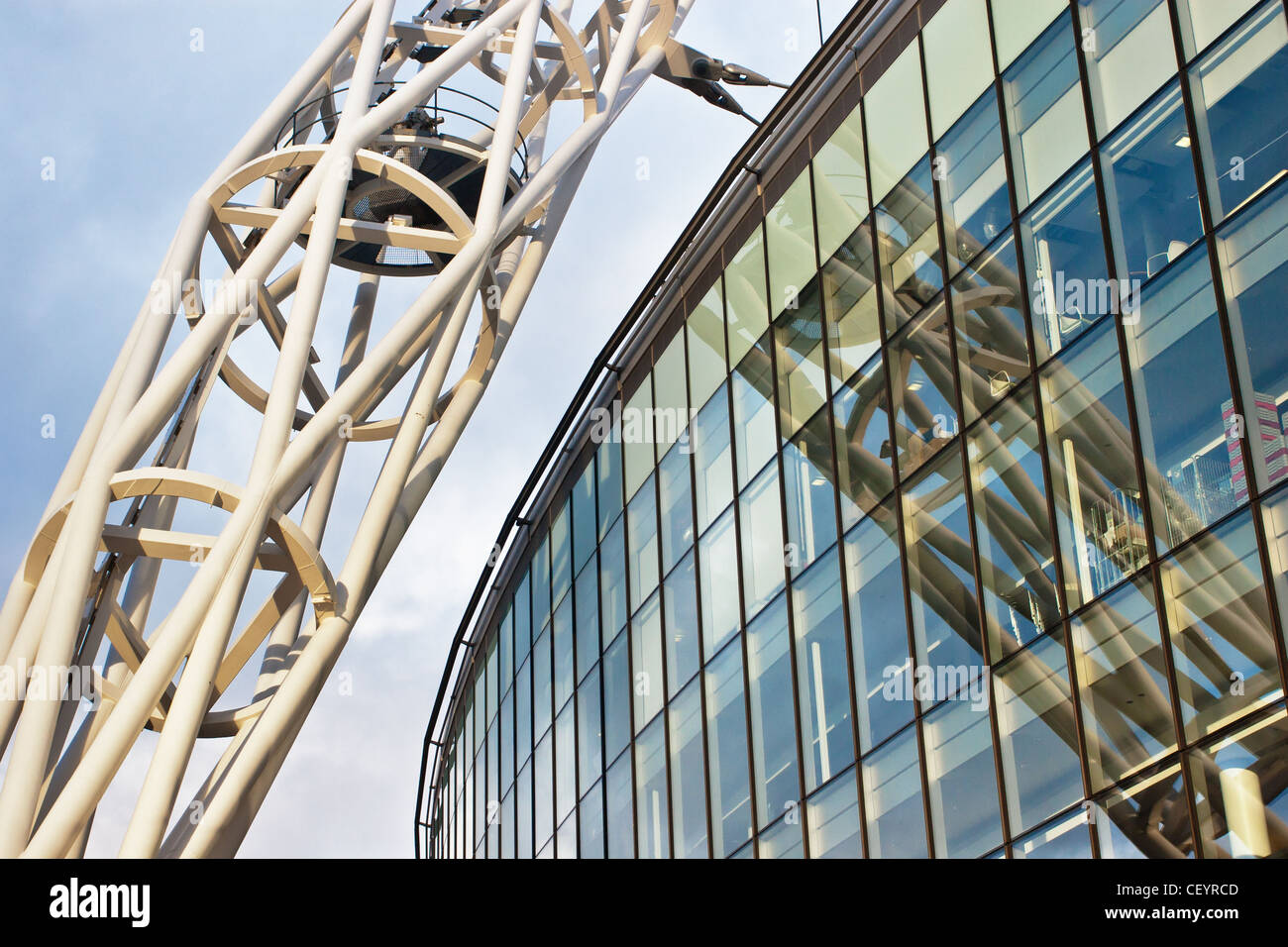 The Arch over Wembley Stadium. 2012 London Olympic Venue and home of the England national football team. - Stock Image