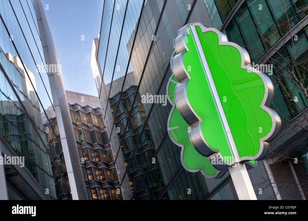 The Evergreen sculpture by David Batchelor at More London, Southwark, London. - Stock Image
