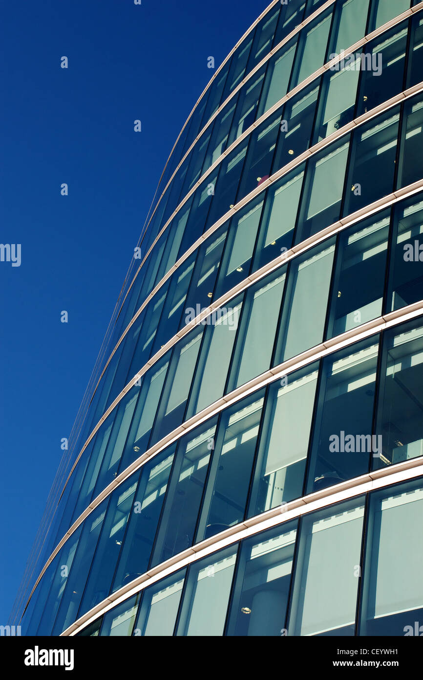 Glazing in a modern office building - Stock Image