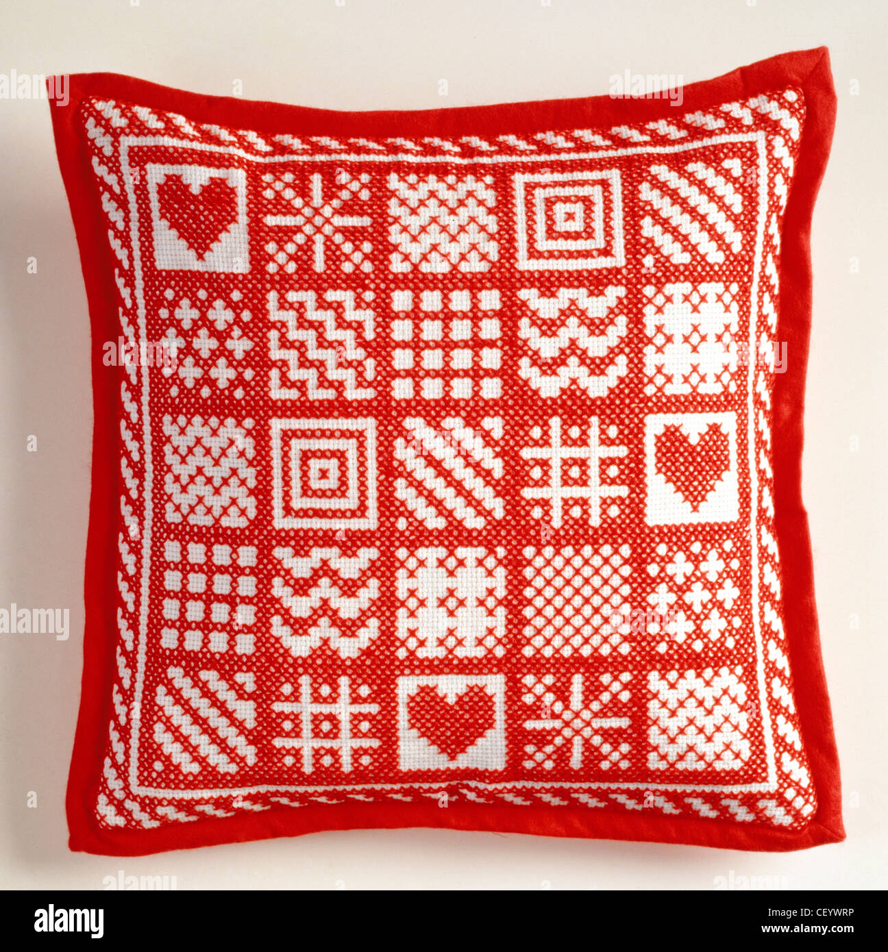 Embroidered Cushion Embroidery Stock Photos & Embroidered Cushion ...
