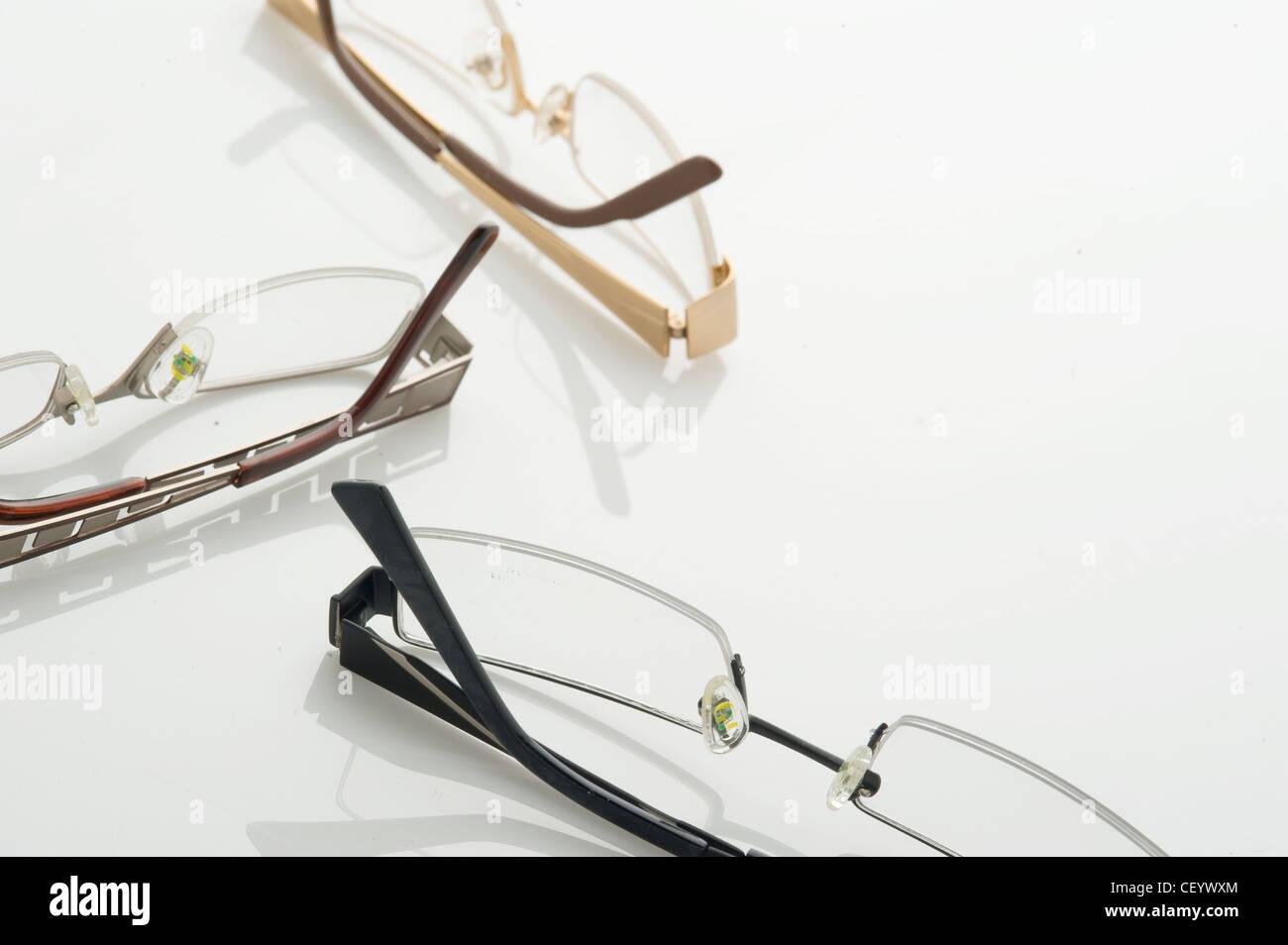 Three pairs of glasses - Stock Image