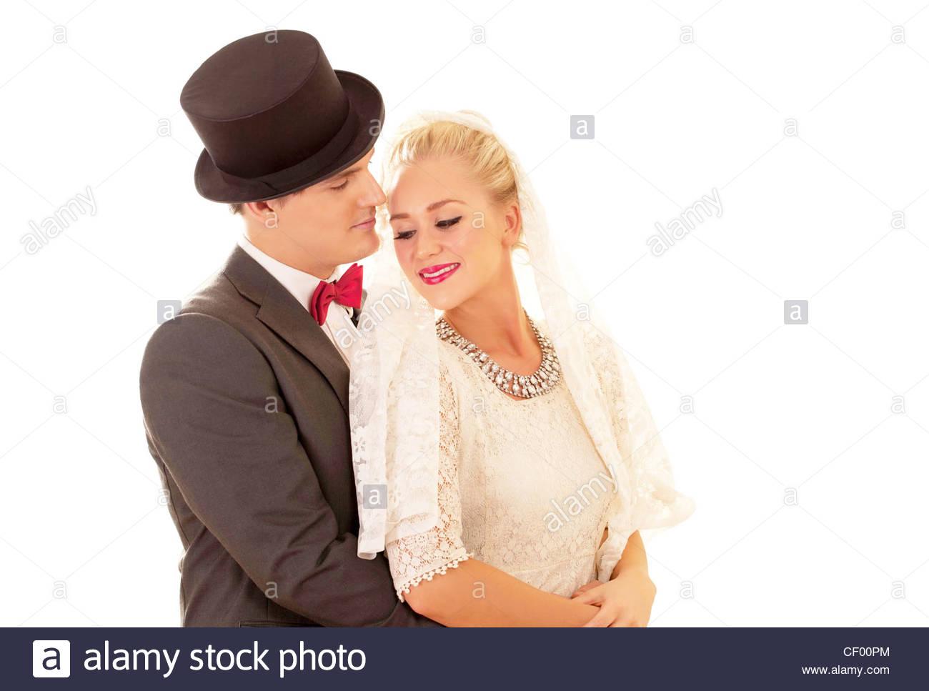 Newly wed couple - Stock Image