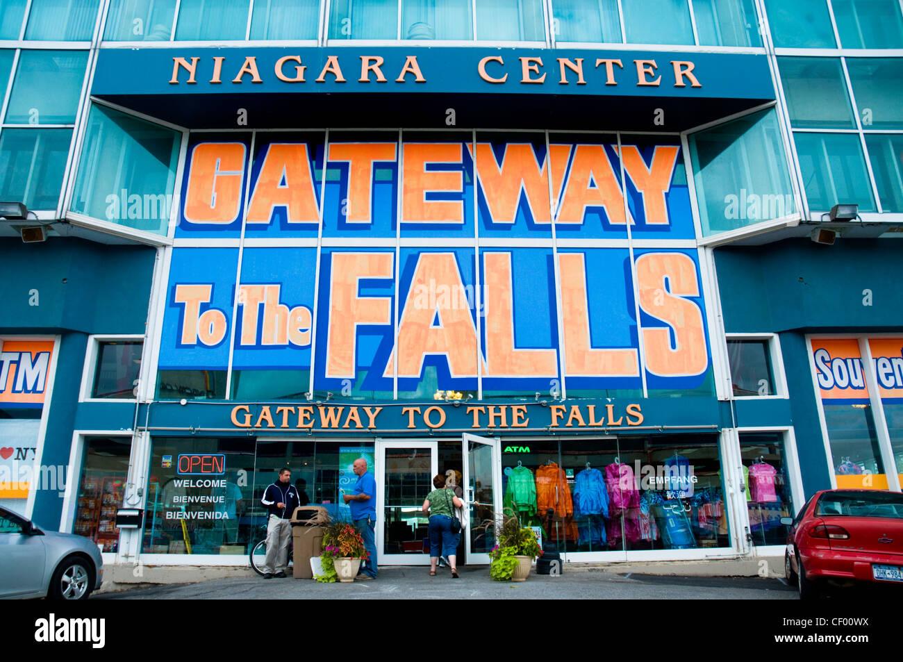 The Niagara Centre, a large shop and food court at Niagara Falls - Stock Image