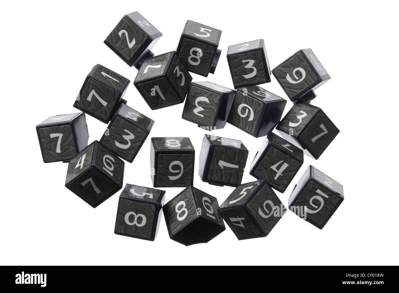 Number Cubes - Stock Image