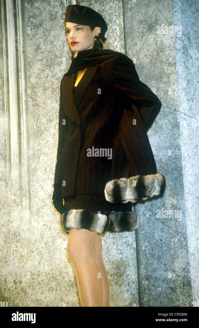 e3e0c1d4f s Fashion Christian Di Model wearing black beret black and gold ...