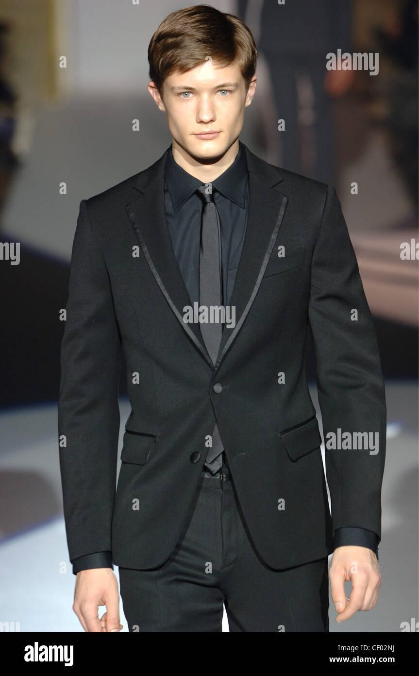 Dell Acqua Menswear Milan A W Dark Blonde Male Wearing A Black