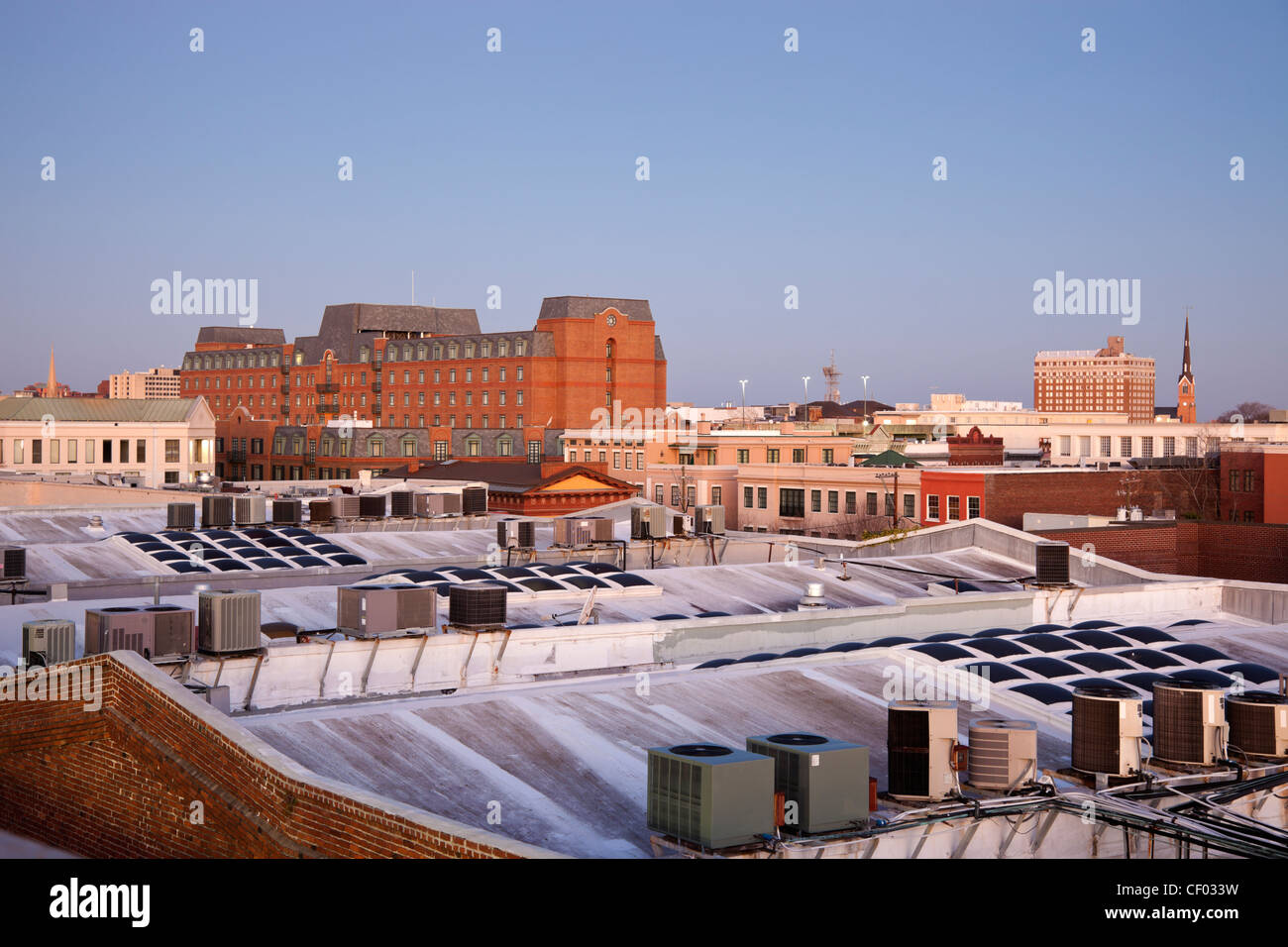 Early morning in Charleston, SC - seen from the roof - Stock Image