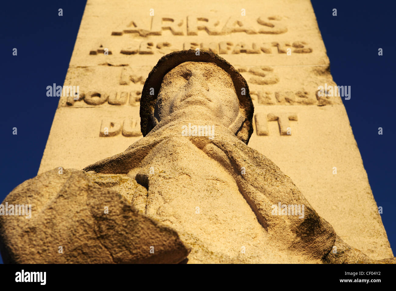 French War Memorial in Arras, France. - Stock Image