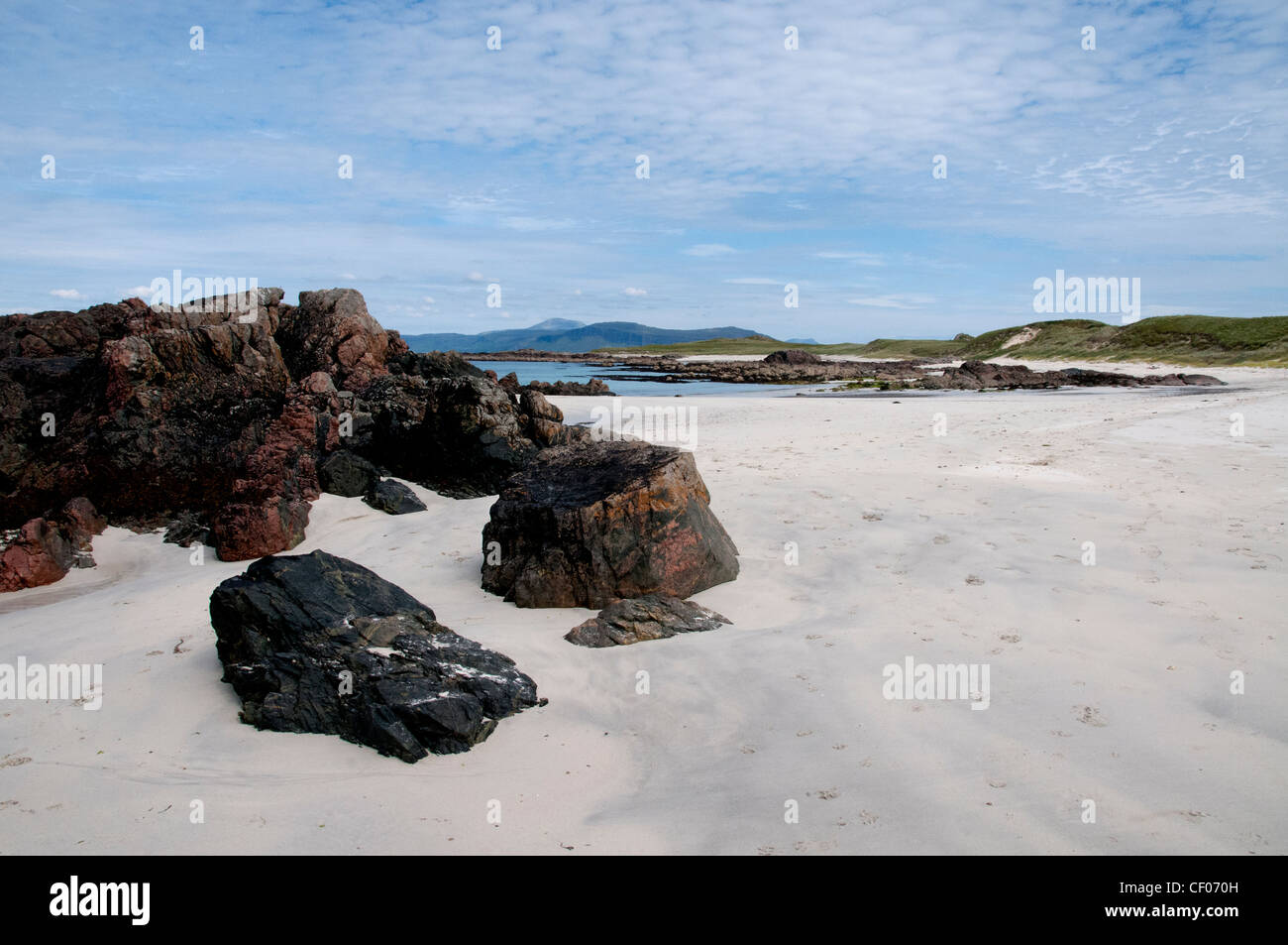 a landscape of north shore beach iona of the west coast of scotland - Stock Image