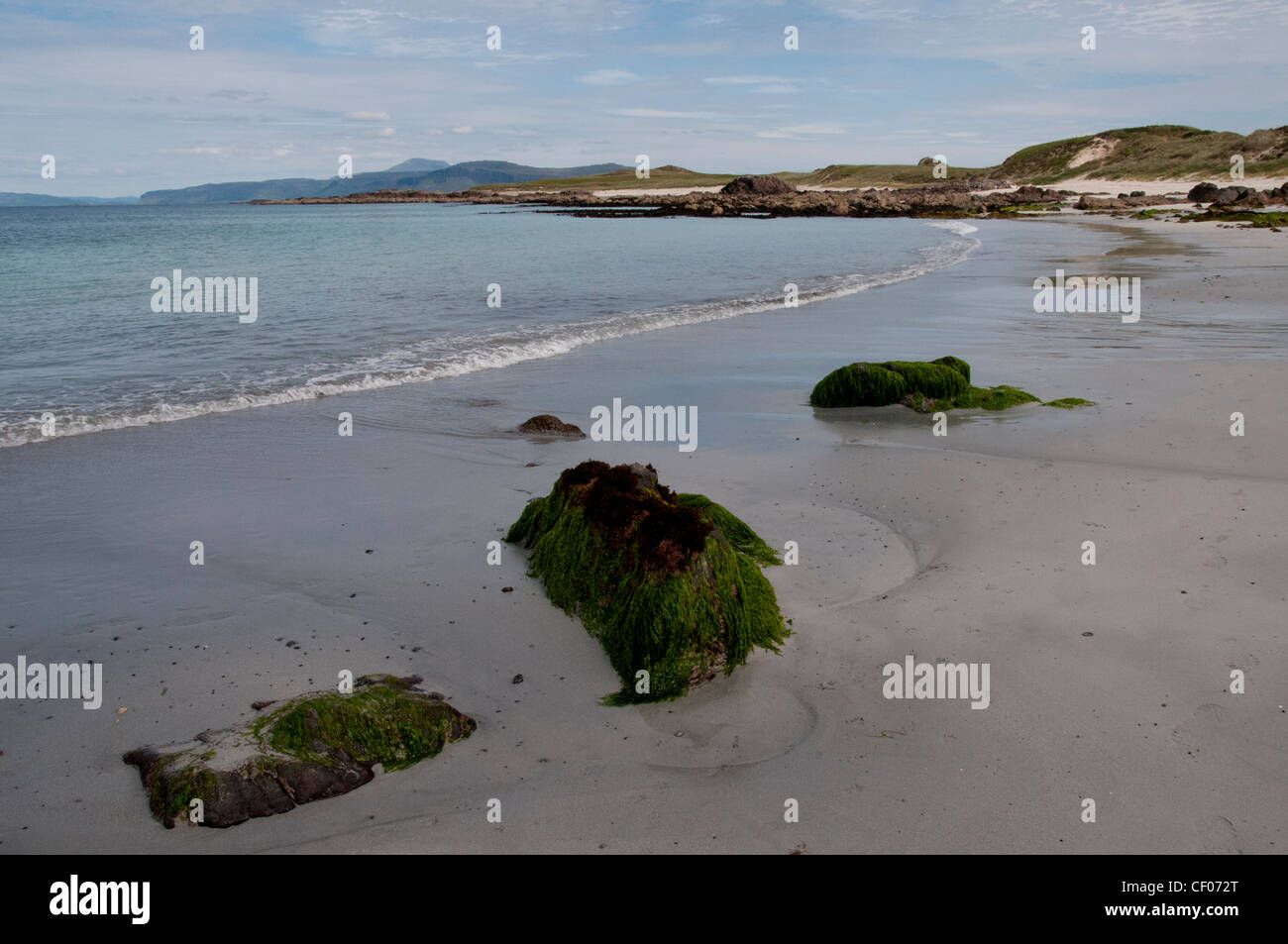 a landscape of north shore beach iona off the west coast of scotland - Stock Image