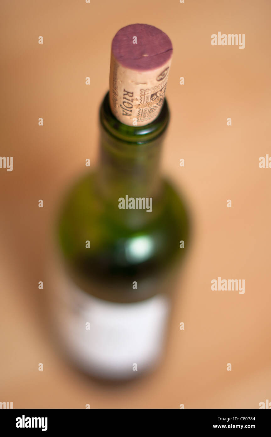 A bottle of red wine from 'Rioja' region of Spain. - Stock Image