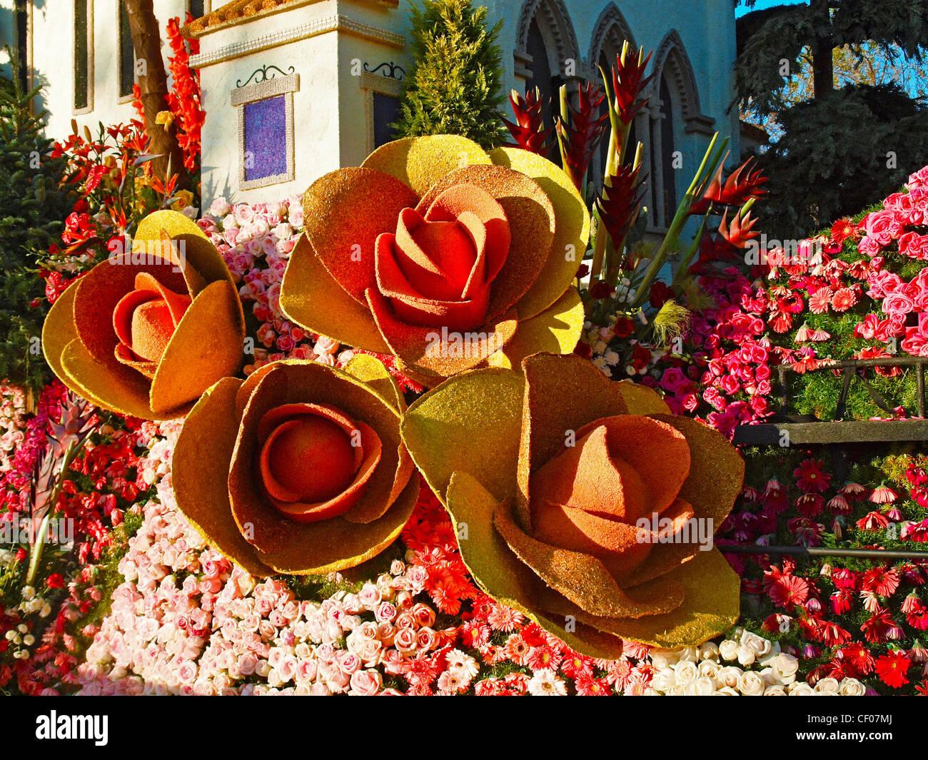 Design Detail On The 2012 Rose Parade Float From Loyola Marymount University