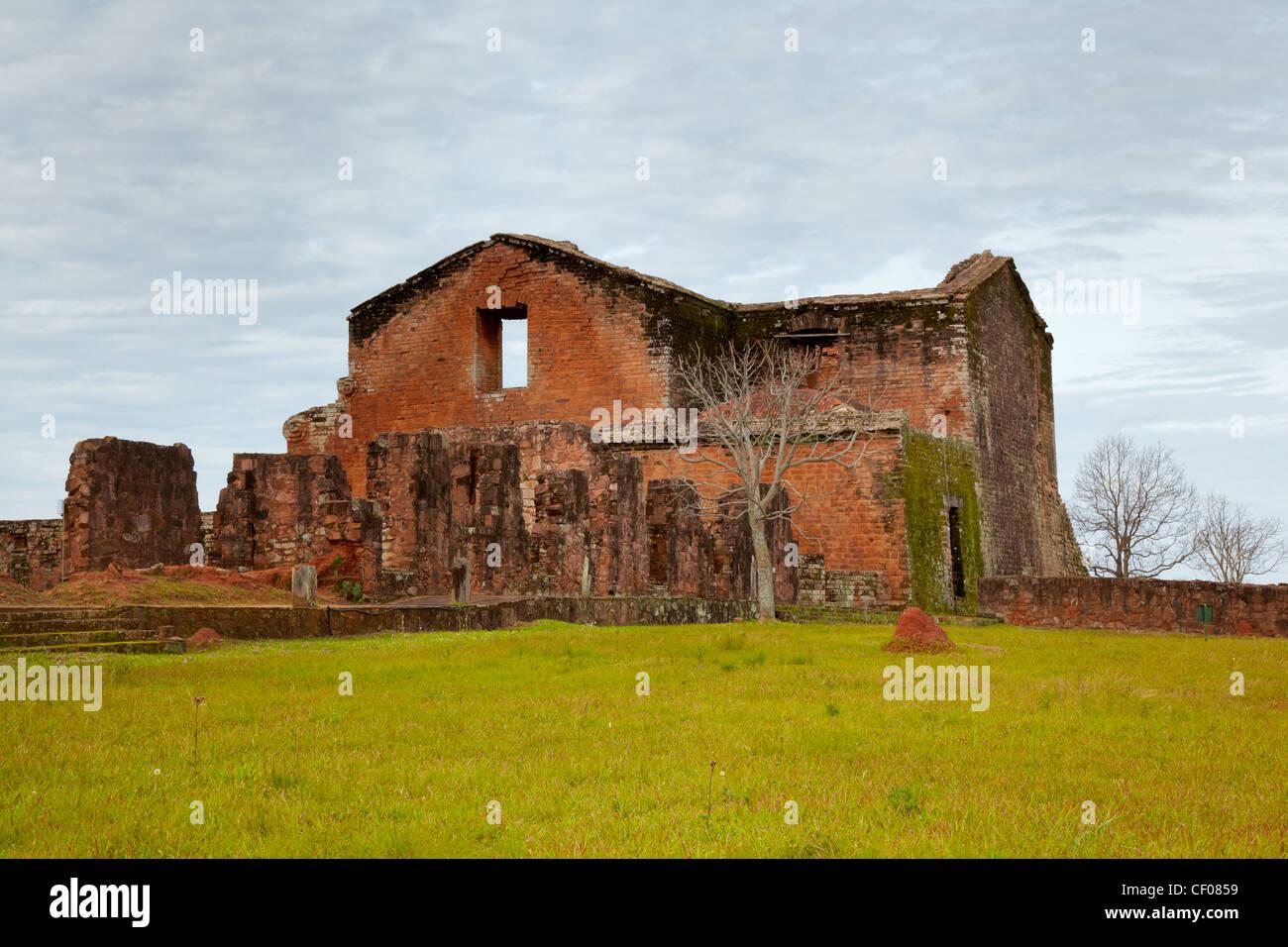 Jesuit Missions of la Santisima Trinidad de Parana, Paraguay - Stock Image