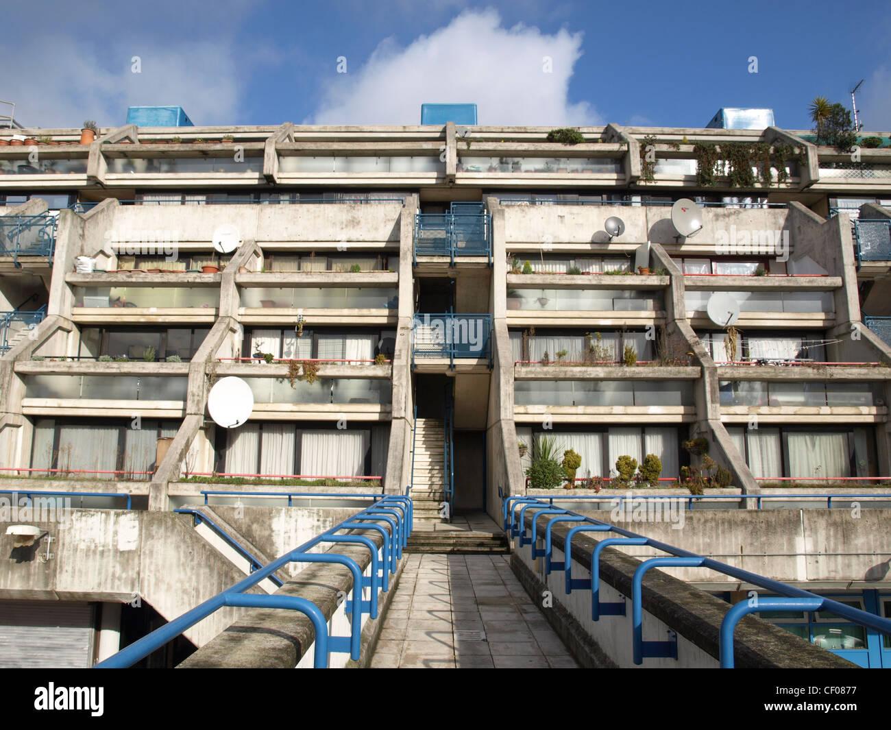 Alexandra Road housing estate iconic new brutalist architecture in London, England, UK Stock Photo