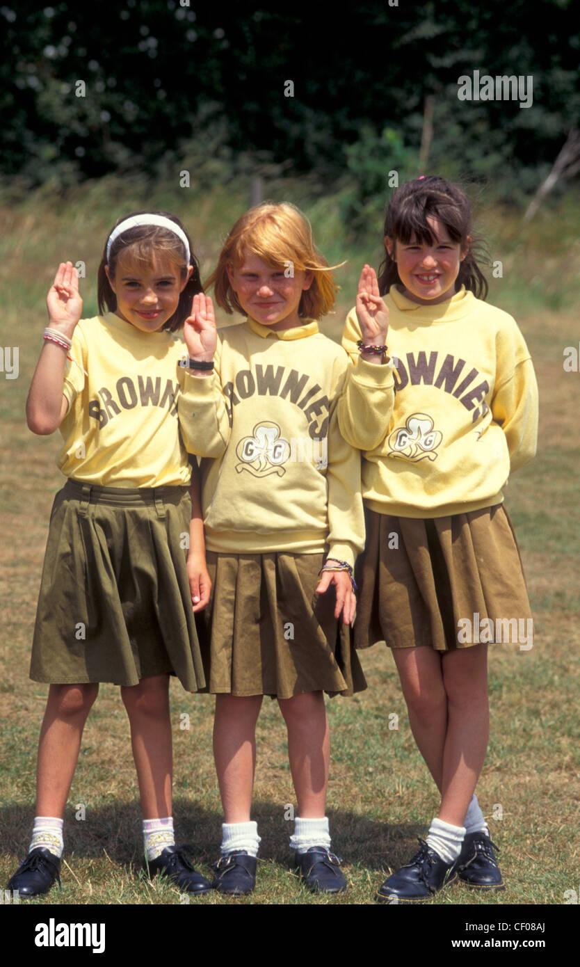 three brownies - Stock Image