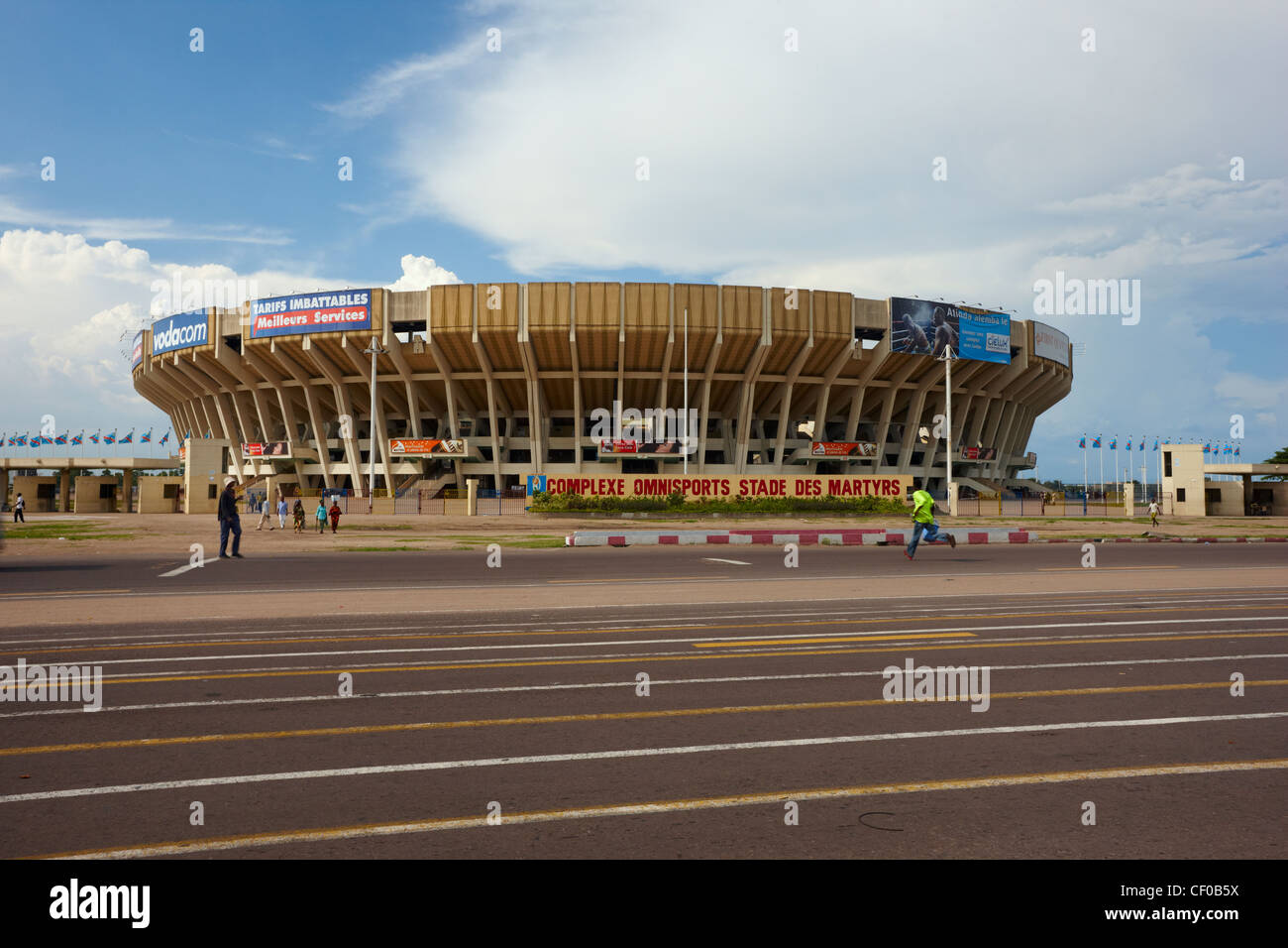 Stade des Martyrs, Kinshasa, Democratic Republic of Congo, Africa - Stock Image
