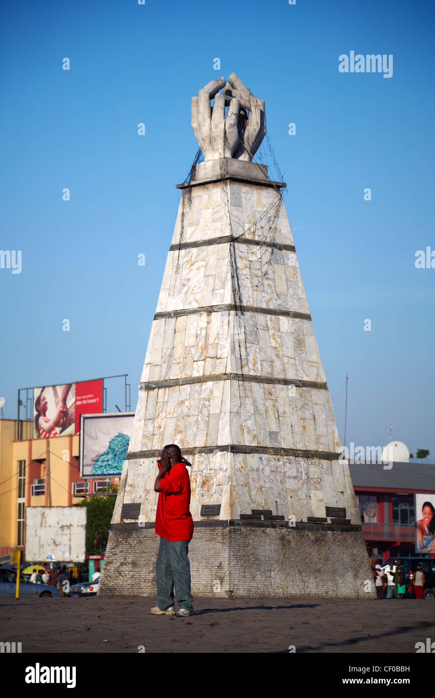 Place de la Victoire, Kinshasa, Democratic Republic of Congo, Africa - Stock Image