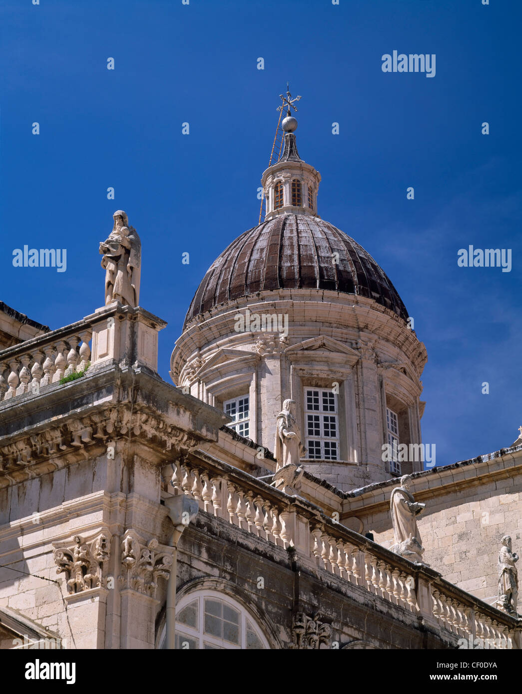 The Cathedral of the Assumption of the Virgin, Dubrovnik, Dalmatia, Croatia. A UNESCO Cultural World Heritage Site. - Stock Image