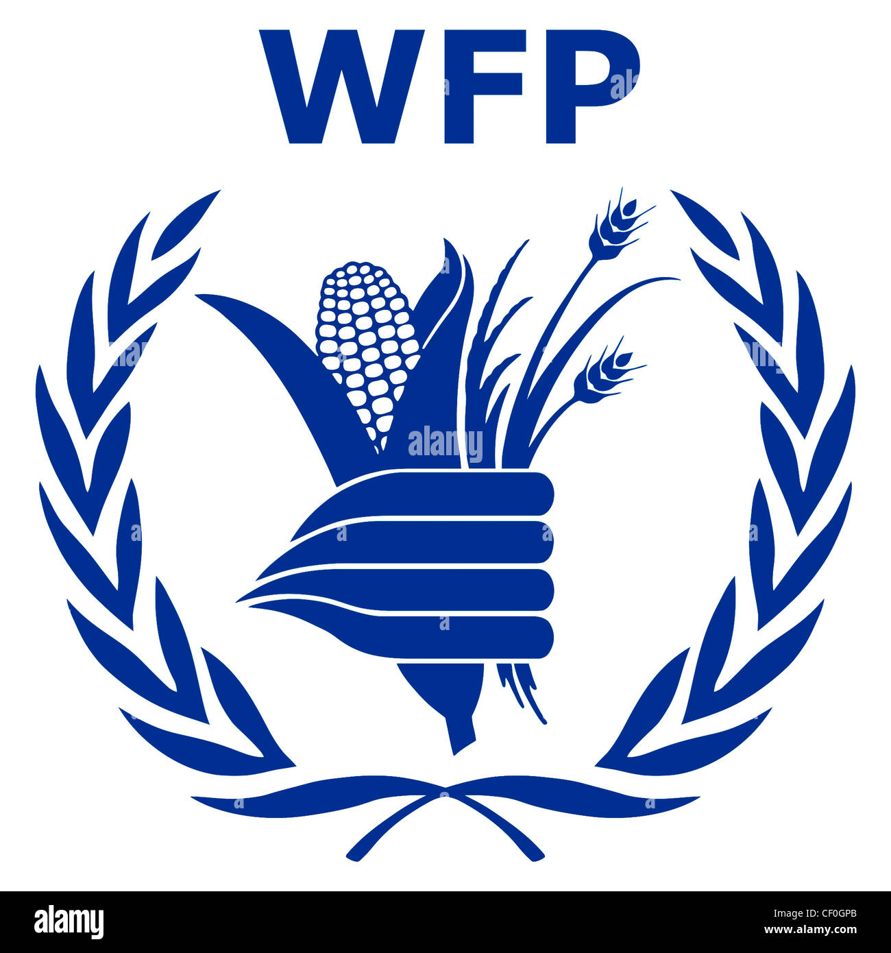 Logo Of United Nations World Food Programme Wfp With Seat In Rome Stock Photo Alamy